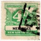 (I.B) Australia - NSW Railways Parcel 4d (Menindee) inverted watermark