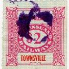 (I.B) Australia - Queensland Railways : Parcel $2 (Townsville)