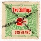 (I.B) Australia - Queensland Railways : Parcel 2/- (Brisbane)