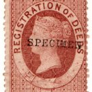 (I.B) QV Revenue : Ireland Registration of Deeds £1 (1872)