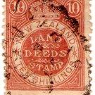 (I.B) New Zealand Revenue : Land & Deeds 10/-