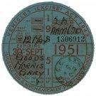 (I.B) GB Revenue : Car Tax Disc (Morris Goods 1951)