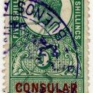 (I.B) Edward VII Revenue : Consular Service 5/- (Buenos Aires)