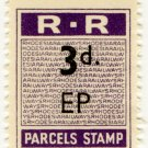 (I.B) Rhodesia Railways : Parcels Stamp 3d