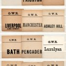 (I.B) Great Western Railway : Parcel Label Collection