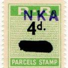 (I.B) Rhodesia Railways : Parcels Stamp 4d