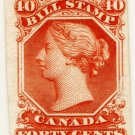 (I.B) Canada Revenue : Bill Stamp 40c (colour trial)