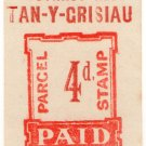 (I.B) Festiniog Railway : Parcel Stamp 4d (Tan-Y-Grisiau)
