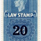 (I.B) Canada Revenue : Law Stamp 20c OP