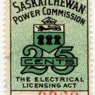 (I.B) Canada Revenue : Saskatchewan Power 25c