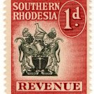(I.B) Southern Rhodesia Revenue : Duty Stamp 1d