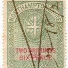 (I.B) Northamptonshire Revenue : Court Fee 2/6d (1882)