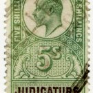 (I.B) Edward VII Revenue : Judicature Fees 5/-