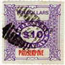 (I.B) Australia - Queensland Railways : Parcel $10 (Proserpine)