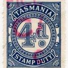 (I.B) Australia - Tasmania Revenue : Stamp Duty 4d