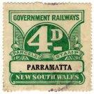 (I.B) Australia - NSW Railways Parcel 4d (Parramatta)