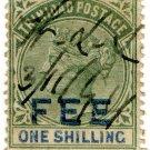 (I.B) Trinidad & Tobago Revenue : Fee Stamp 1/-