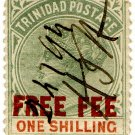 (I.B) Trinidad & Tobago Revenue : Free Fee Stamp 1/-