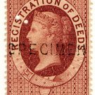 (I.B) QV Revenue : Ireland Registration of Deeds 2/- (1888)