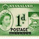 (I.B) Nyasaland Revenue : Duty 1d (postal overprint)