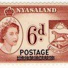 (I.B) Nyasaland Revenue : Duty 6d (postal overprint)
