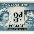 (I.B) Nyasaland Revenue : Duty 3d (postal overprint)