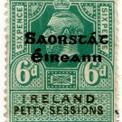 (I.B) George V Revenue : Ireland Petty Sessions 6d OP