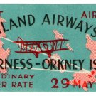 (I.B) Cinderella Collection : Highland Airways - 1st Airmail (Orkney 1934)