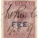 (I.B) Trinidad & Tobago Revenue : Fee Stamp 5/-