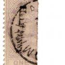 (I.B) Dominica Postal : ½d on 1d Bisect (1883)