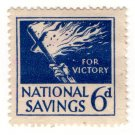 (I.B) National Savings : Flaming Cross 6d