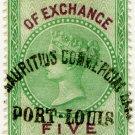 (I.B) Mauritius Revenue : Bill of Exchange 5c