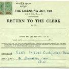 (I.B) Elizabeth II Revenue : Police Courts 5/- (NAAFI Imperial Club)