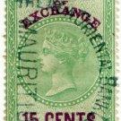 (I.B) Mauritius Revenue : Bill of Exchange 15c