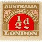 (I.B) Australia Revenue : Customs Duty ½d