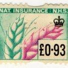 (I.B) Elizabeth II Revenue : National Insurance 93p