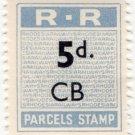(I.B) Rhodesia Railways : Parcels Stamp 5d