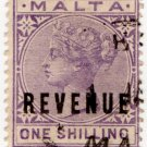 (I.B) Malta Revenue : Duty Stamp 1/-