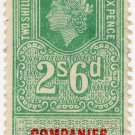(I.B) Elizabeth II Revenue : Companies Winding Up 2/6d