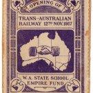 (I.B) Australia Cinderella : Trans-Australian Railway 1917