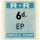 (I.B) Rhodesia Railways : Parcels Stamp 6d