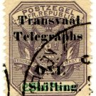 (I.B) Transvaal Telegraphs : 1/- on 2/6d OP