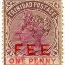 (I.B) Trinidad & Tobago Revenue : Fee Stamp 1d