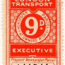 (I.B) London Transport Executive : Railway Newspapers 9d