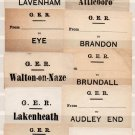 (I.B) Great Eastern Railway : Parcel Label Collection