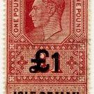 (I.B) George VI Revenue : Isle of Man £1