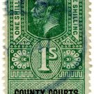 (I.B) George V Revenue : County Courts (Northern Ireland) 1/-