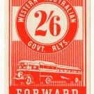 (I.B) Australia - Western Australia Railways : Parcel 2/6d