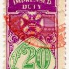 (I.B) Australia - Queensland Revenue : Impressed Duty £20