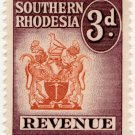 (I.B) Southern Rhodesia Revenue : Duty Stamp 3d